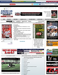 American Football Monthly Web Site